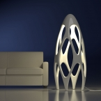 Lampada Design Synapse Lux color white glossy