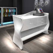Desk sinuoso in Adamantx® by Massimiliano Settimelli Designer