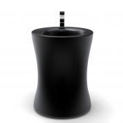 Lavabo di design frontale colore nero opaco