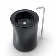 Lavabo di design vista alta colore nero opaco