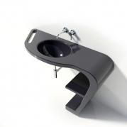 Lavandino Design Vabo colore nero dx