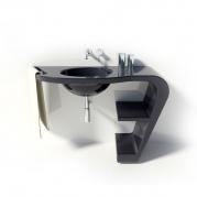 Lavandino Design Vabo colore nero