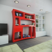 Libreria Design Boom in Adamantx® by Maurizio Poli