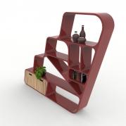 Libreria Design Ladder da dietro