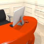 scrivania design THE MASK in Adamantx® by Sauro Tormentoni