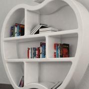 libreria design made in italy dettaglio | bianca lucida