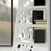 libreria design Dots vista bianca dettaglio