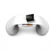 scrivania design Massive bianca dall'alto