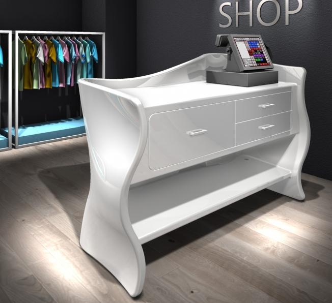 Desk sinuoso in Adamantx® by Massimiliano Settimelli Designer