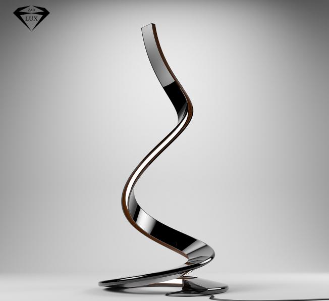 Lampada Python, scultura luminosa di Simone Cappellanti.