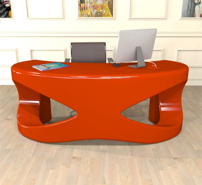 scrivania design THE MASK in Adamantx® by Sauro Tormentoni