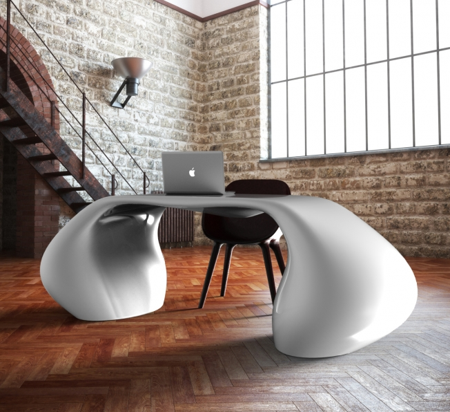 scrivania design Massive bianca