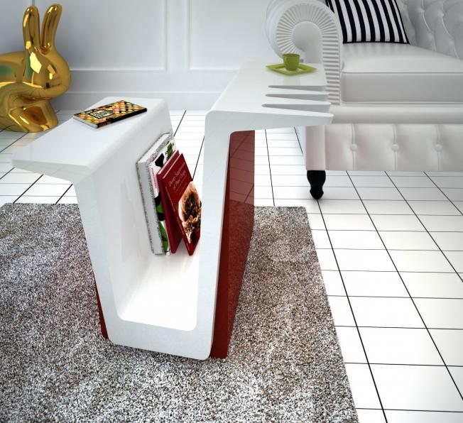 tavolino moderno design Fly in Adamantx®