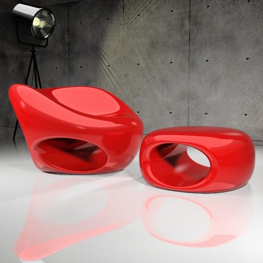Claudio Romagnolo ci regale forme dal design sinuoso ed organico con DROP RELAX in Adamantx®