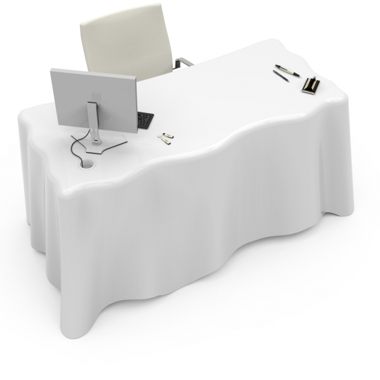 FABRIC, scrivania effetto tenda di Roberto Corazza Designer