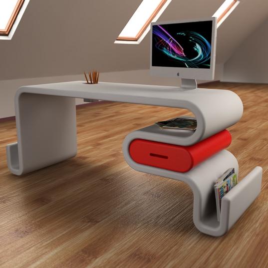 Flavia Mosca presenta scrivania FLEX in Adamantx®