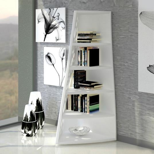 libreria design Dots vista bianca frontale