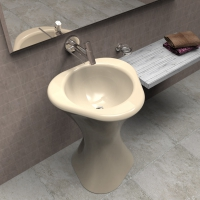 Lavabo in Adamantx® by Roberto Corazza - Twister