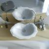 Lavabo effetto foglia in Adamantx®, by Fabio Crimi.